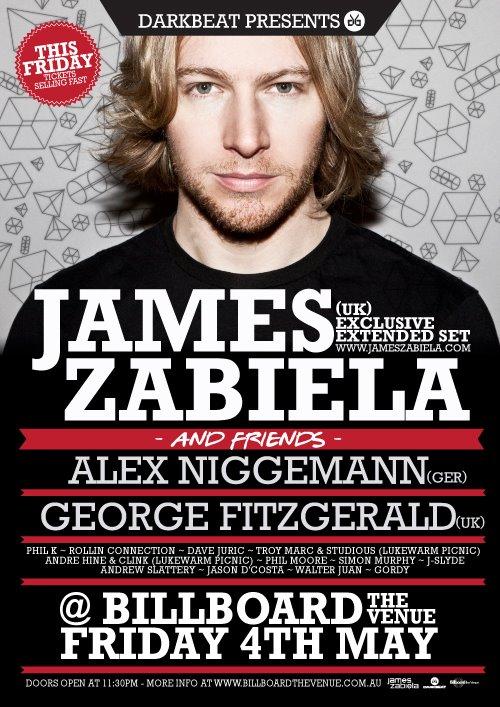 James Zabiela - May 4th @ Billboards