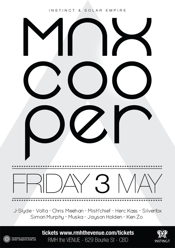 Max Cooper - May 3rd Eflyer