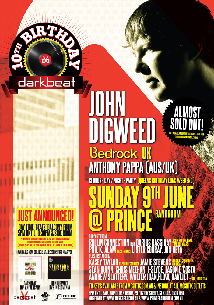 John Digweed June 9th