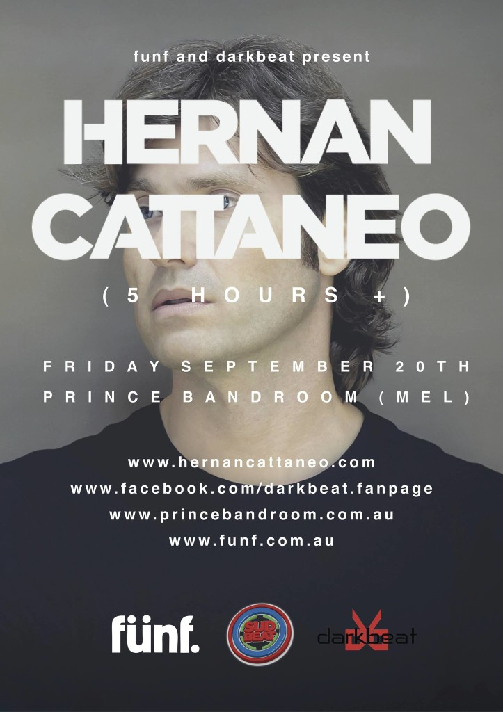 Hernan Cattaneo - Sept 20th @ Prince